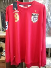 New Authentic Umbro 2010 England Rooney L/S Jersey manchester United