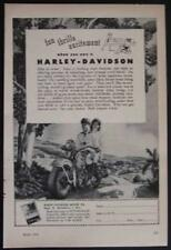 1948 Harley Davidson *Fun Thrills Excitement* vintage Motorcycle Ad