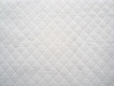 Upholstery Fabric, Diamond pattern color White, By The Yard, 100% Cotton