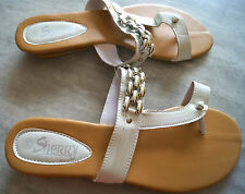 CHAUSSURE FEMME TONG BLANC VERNIS POINTURE 40