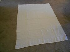 """Linen Table Cloth Floral Embossed Design Ivory 67"""" x 52"""" Everyday/Spec. Occasion"""