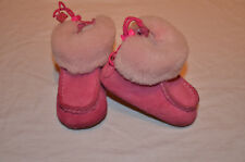 Baby Infant Girls Pink UGG size UK 2 EU18 Leather