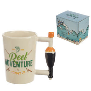 Collectable Fishing Float Shaped Handled Ceramic Mug Great B'Day Gift  Boxed