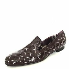 $398 New DELMAN 'Cache' Women's Burgundy Studded Leather Flats Size 11 M*