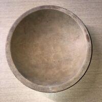 "Vintage 9""x8 1/2"" Munising Turned Wooden Maple Wood Bowl Primitive Americana"