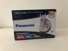 Panasonic GigaRange KX-TG2431W 2.4 Cordless Phone Caller ID Answering Machine