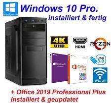 PC Office Büro AMD Ryzen 3 4x 4,00GHz 8GB RAM 2TB HDD Windows 10 Office 2019