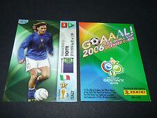 FRANCESCO TOTTI ITALIA PANINI CARD FOOTBALL GERMANY 2006 WM FIFA WORLD CUP