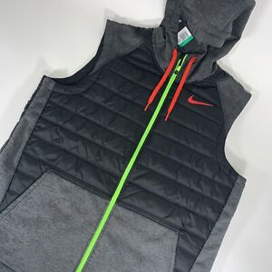 Nike Therma Winterized Training Vest Black Red Green Size XL