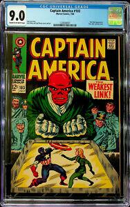 Captain America #103 (Jul 1968, Marvel) - CGC 9.0