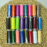 24 Rolls Assorted Colour Spools High Quality Polyester Sewing Threads Cones Set