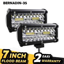 2PCS 120W LED Light Bar 24000LM Spotlight For Off Road SUV Flood Driving Lamp UK
