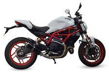 Ducati Monster 797 2017+ SP Engineering Satin Black Round Moto GP XLS Exhaust