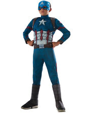 "Captain America Kids Dlx Muscle Chest Costume,Med,Age 5-7 yrs,HEIGHT 4' 2""-4' 6"""