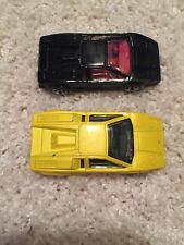 Hot Wheels 1997 Lamborghini Countach black with red interior & Yellow - Lot Of 2
