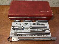 Starrett Tubular Id Inside Micrometer Set No 823a