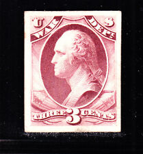 US O85P4 3c War Department Proof on Card Plum Shade (005)