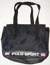 Polo Sport Ralph Lauren 1990s Vintage Black Tote Shoulder Messenger Bag Strap