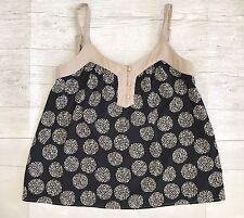 Chloe K Women's Top Cami Tank Polyester Black/Beige