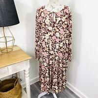 Sportsgirl Boho Maxi Dress Long Sleeve Floral Peasant Gypsy Size 16 NWT $119