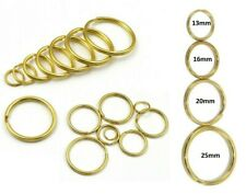 Split Rings 13mm 16mm 20mm 25mm BRASS Keyring Hook Loop Leather Craft