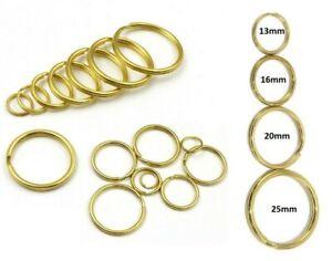 Split Rings 13mm 16mm 20mm 25mm BRASS Keyring Hook Loop Leather Craft