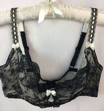 Felina Paramour Bra 42DD Black Lace 115005 Captivate Unlined New F26