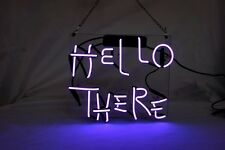"HELLO THERE-Purple Bakery Market Bar Stationery Cola Neon Light Sign 11""x9""TN003"