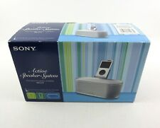 New Sony Active Speaker System for Digital Music Players Srs-U10 Open Box