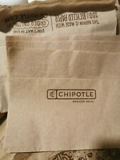 a stack of napkins from chipotle restaurant