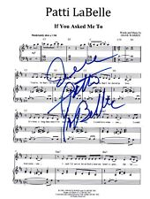 """Patti LaBelle REAL hand SIGNED 8x10"""" If You Asked Me To sheet music COA"""