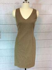 Jil Sander Wool Cashmere Sheath Dress Womens Size 34 2 Sleeveless Brown