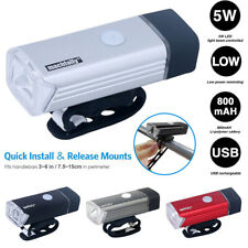 Rechargeable USB LED Bike Headlight Bicycle Head Light Front Lamp Cycling +Cable