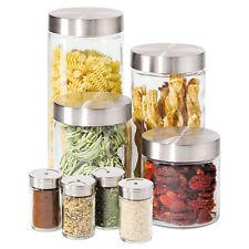 Oggi Canisters & Spice Jars, Glass 8 Piece Set h01