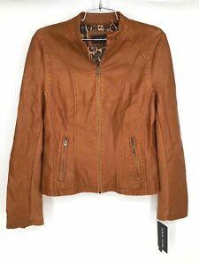 NWT Black Rivet Women's Brown Faux Leather Jacket Size M