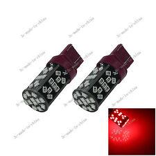 2X Red T20 7443 7440 ECE 48 SMD 2835 LED Brake Blub Turn Signal Light 12V G029