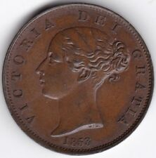 More details for 1853 'doubled 3' victoria half-penny   british coins   pennies2pounds