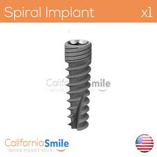 1x Spiral Sterile Dental Implants SPI Anodized Coating SLA gamma Irradiation