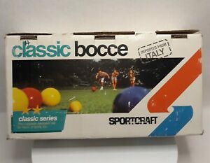 Vintage BOCCE BALL SET in Original Box SPORTCRAFT 1981 Made in Italy.