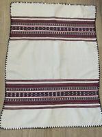 Ukraininan Vintage Tablecloth Cotton Woven