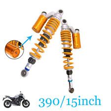 "390mm 15"" Motorcycle Scooter Off-road Rear Air Shock Absorbers Fit Suzuki Yamaha"
