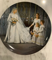 1987 Edwin M Knowles The Sound Of Music Maria Wedding Collectors Plate #7097