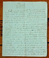 RARE 1736 prophecy not nostradamus original SWISS manuscript notebook 4pp
