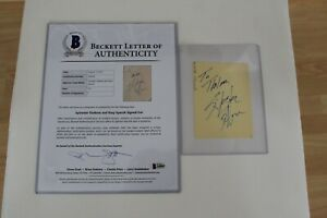 Sylvester Stallone & Sissy Spacek Signed Autographed Cut BAS Beckett LOA