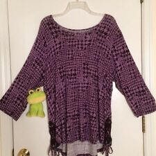 Croft & Barrow Plus 1X NWT Violet Wave Purple Stretch Blouse Top  SO SOFT!!
