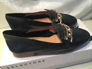 Bronx Womens Bx 1464 Bcerylx Black Leather Loafers size UK 5 EU 38 rrp £88