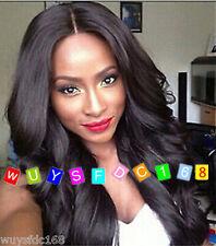 Sexy long wavy Brazilian synthetic dark brown wigs for black Women's Wigs+ Cap~~