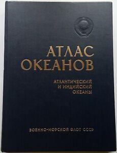 1977 Book USSR - Atlas of the oceans / Atlantic and Indian oceans/ Атлас океанов