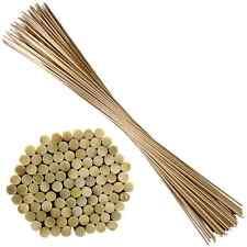 100 Blumenstäbe aus Bambus Splittstäbe Ø6mm Pflanzenstütze Rankstäbe 90cm