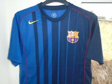 BARCELONA 2004-2005 AWAY NIKE FOOTBALL SOCCER SHIRT JERSEY TOP MEDIUM ADULT